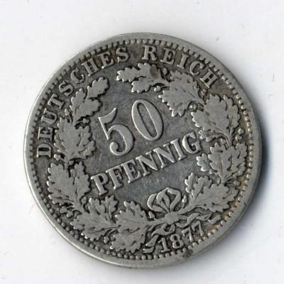 Das 50 Pfennig-Stück aus dem Kaiserreich erzielt in perfekter Erhaltung einen hohen Preis.