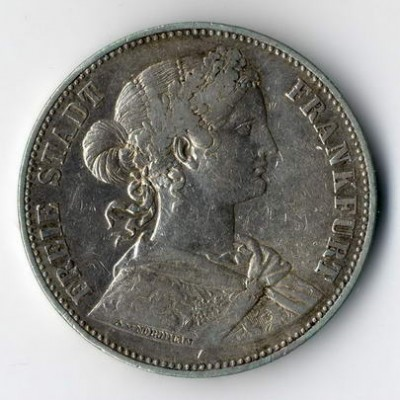 Silbermünze aus Frankfurt in der Torsten Hornung Auktion in Wiesbaden.