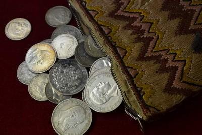 Münzfund vom Dachboden.