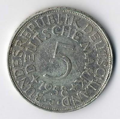 Die originale DM 5.--Silbergedenkmünzen kaufen wir in unserem Münzenfachgeschäft.