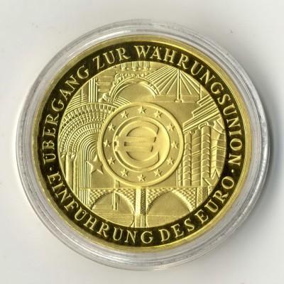 Bundesrepublik 200-Euro-Goldmünze Währungsunion