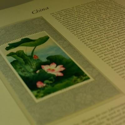Briefmarken aus der Volksrepublik China, Lotusblock, postfrisch