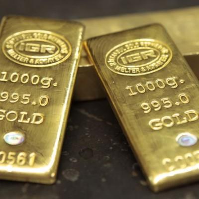 Goldbarren zu 1, 10, 50, 100, 250 und 1000 Gramm