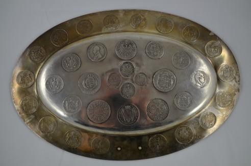 Kaiserreich Kaiserreich Münzenteller mit 36 Silbermünzen