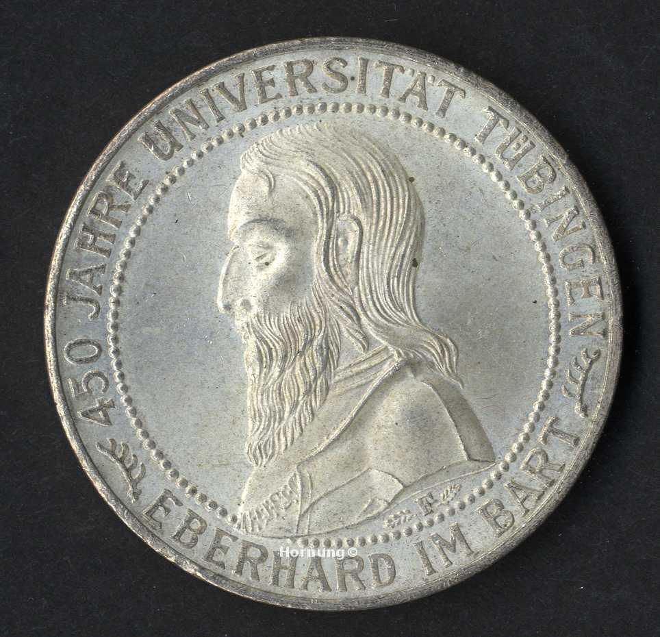 Tuebingen Silbermünze zu 5 Mark aus dem Jahr 1927
